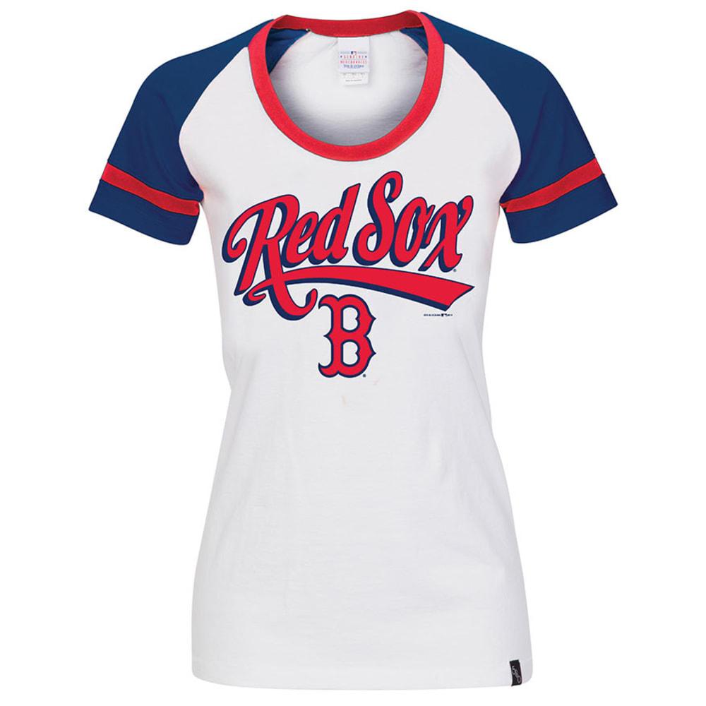BOSTON RED SOX Women's Raglan Shirt - WHITE