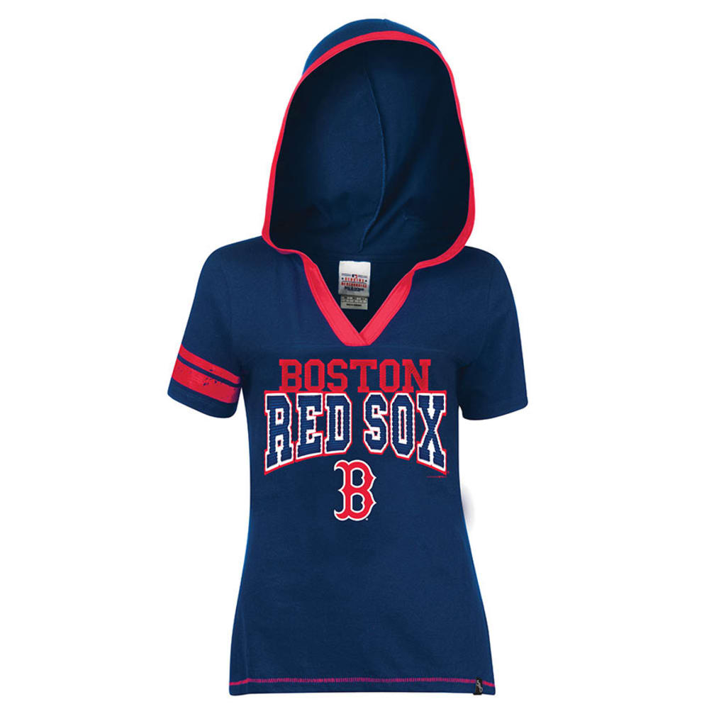 BOSTON RED SOX Women's Hooded Tee  - NAVY