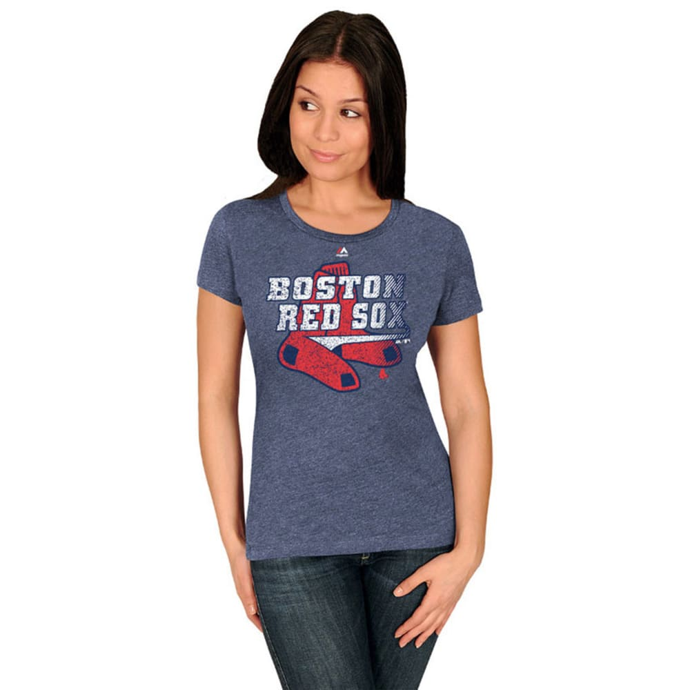 BOSTON RED SOX Women's Take That Tee - NAVY