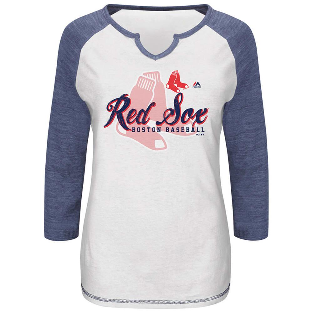 BOSTON RED SOX Women's More Than Enough T-Shirt - WHITE