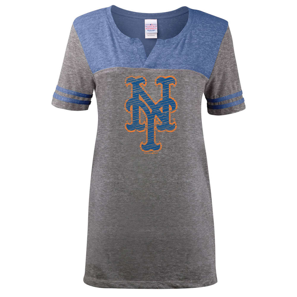 NEW YORK METS Women's MLB Tee - HEATHER CHARCOAL