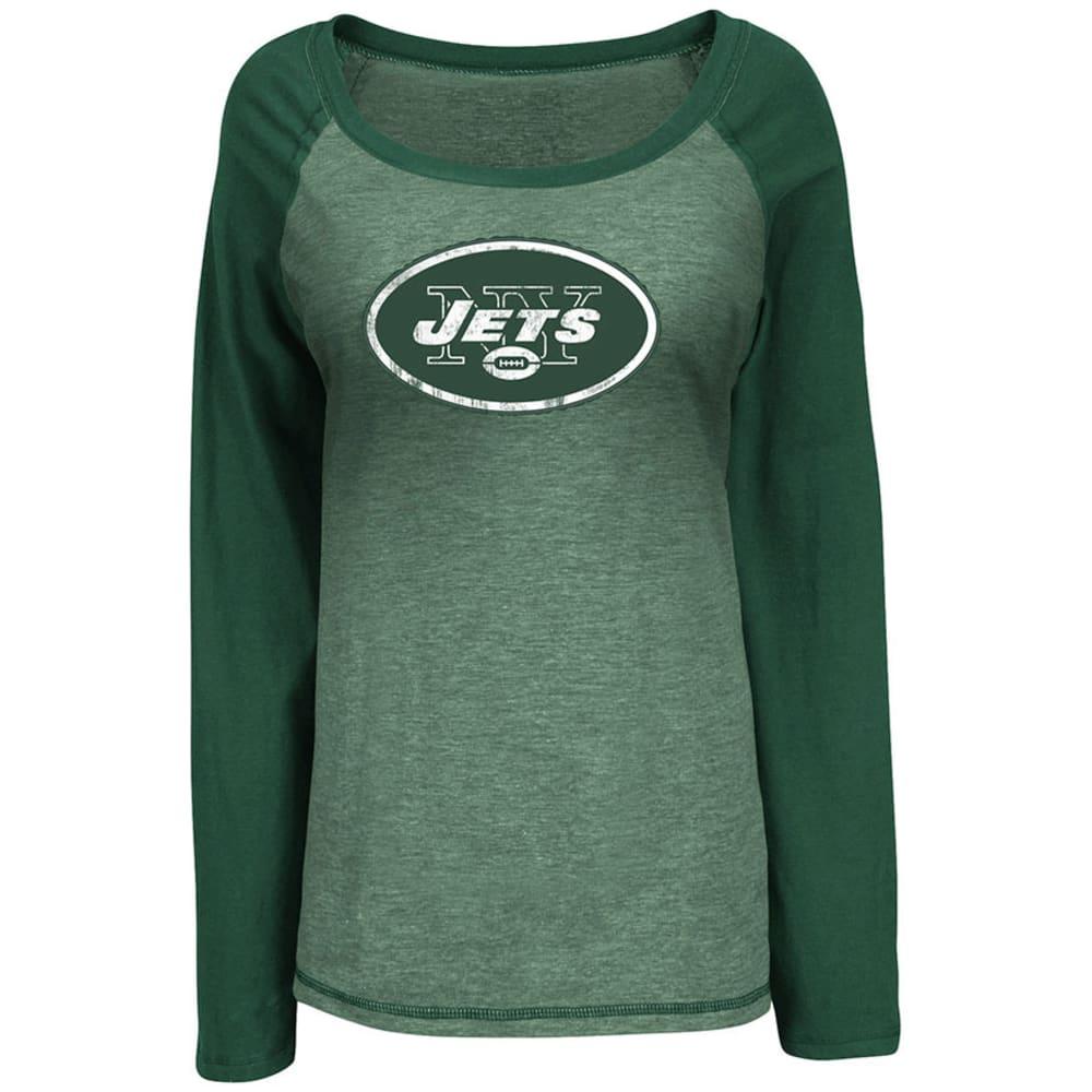 NFL Women's New York Jets Sport Princess III Shirt, L/S - DARK GREEN