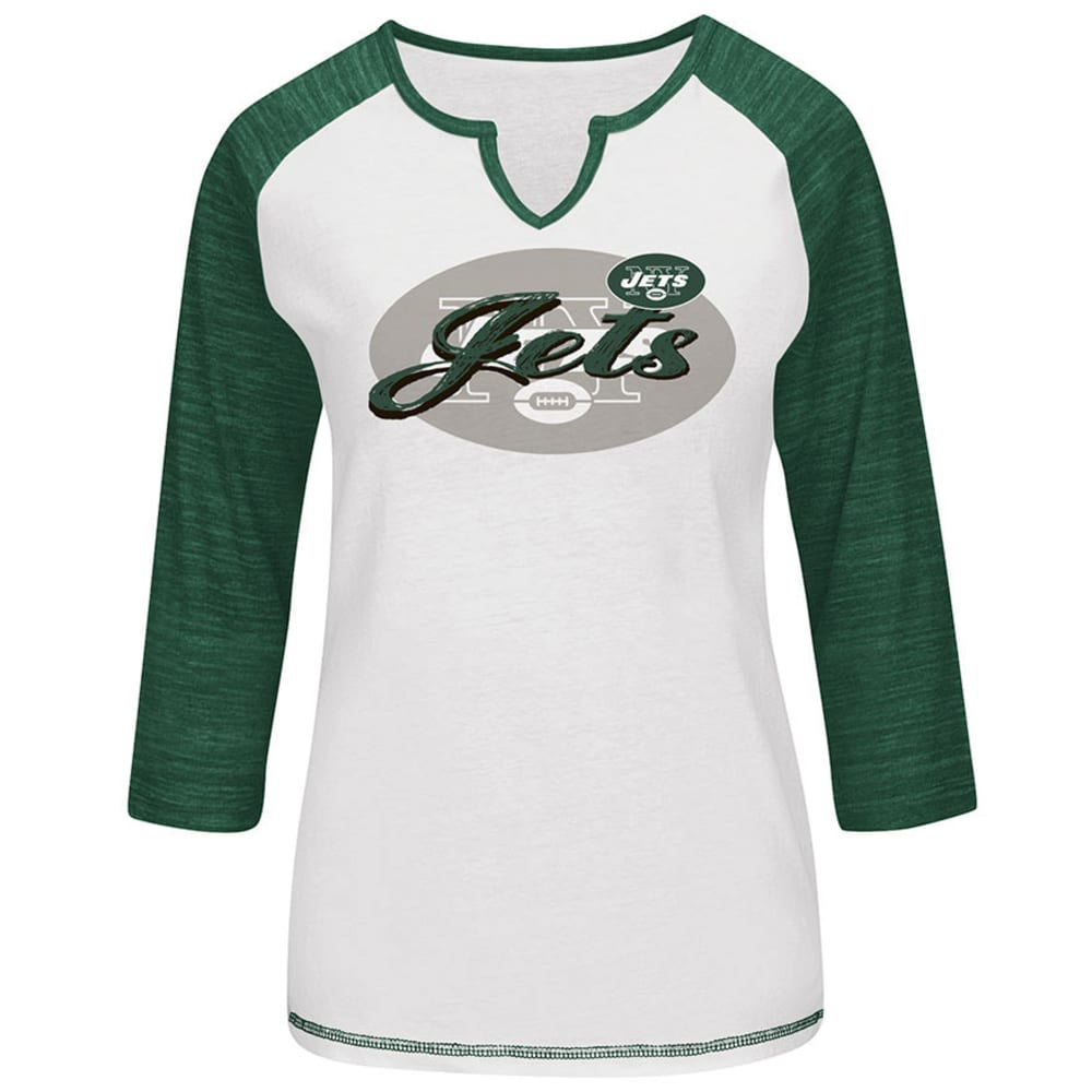 NEW YORK JETS Women's Victory is Sweet Fashion Top - WHITE