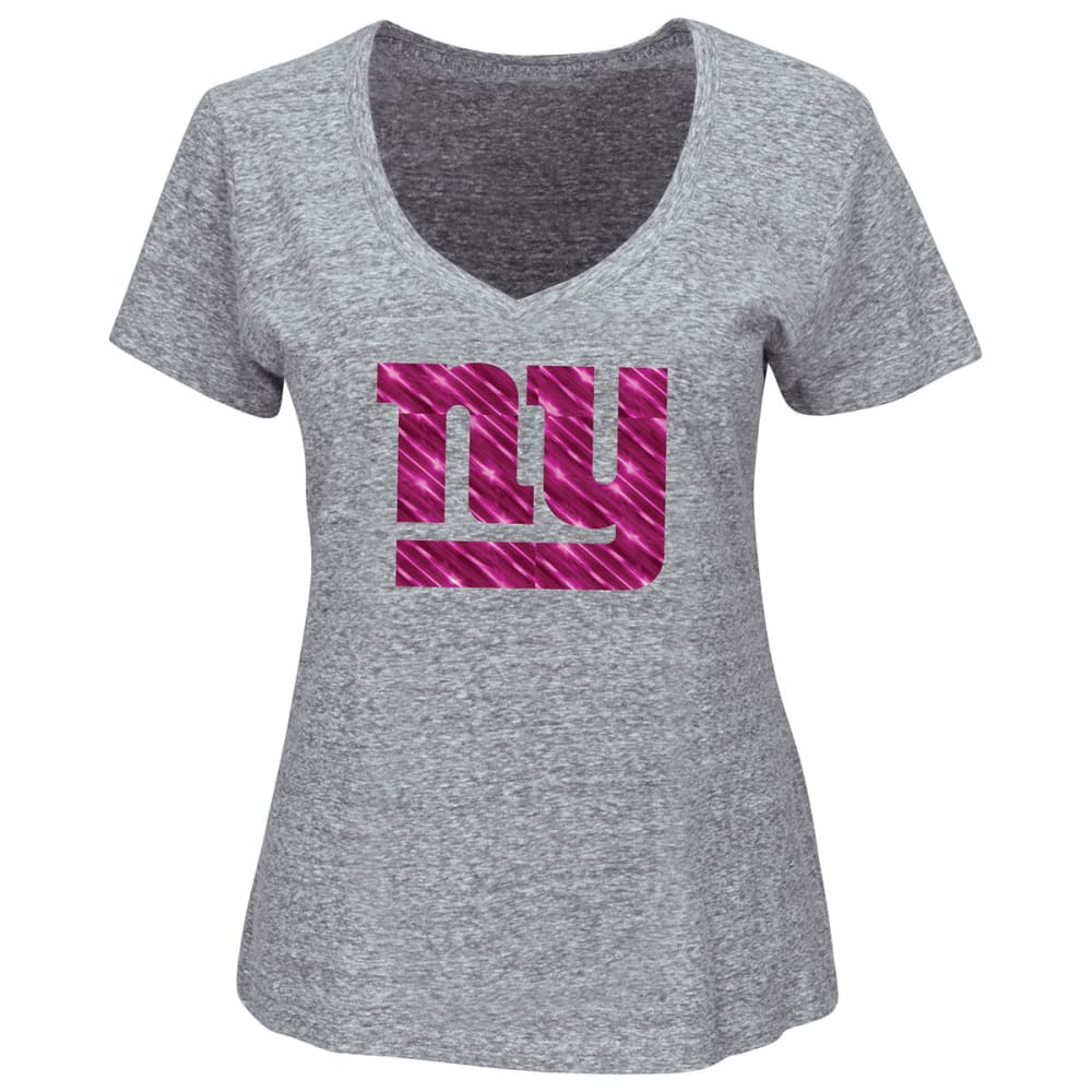 NEW YORK GIANTS Women's Inside Huddle Tee - DUSTY CEDAR