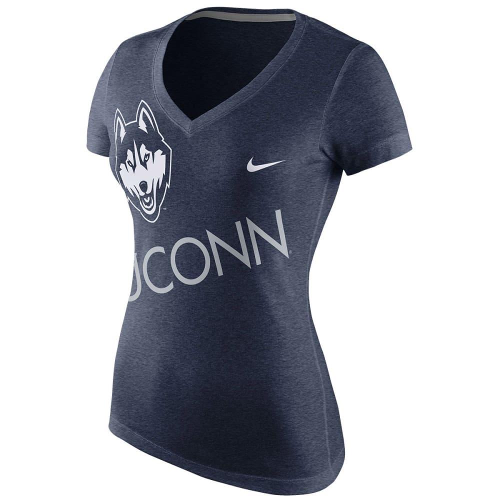 UCONN HUSKIES Women's Nike Kilter V-Neck Tee - NAVY