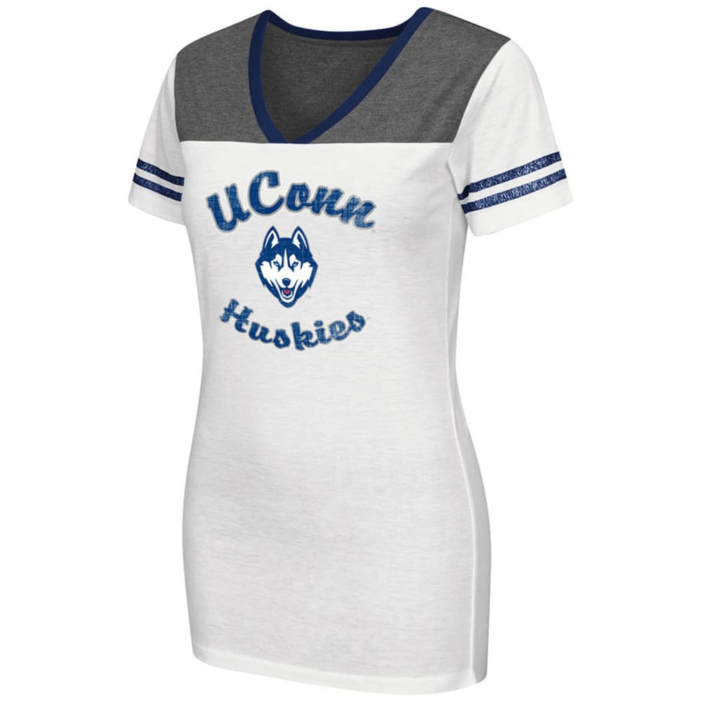 UCONN Women's Pipeline V-Neck Tee - WHITE