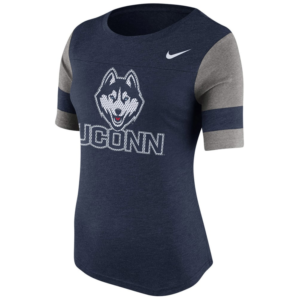 NIKE UCONN Women's College Stadium Fan Top - NAVY