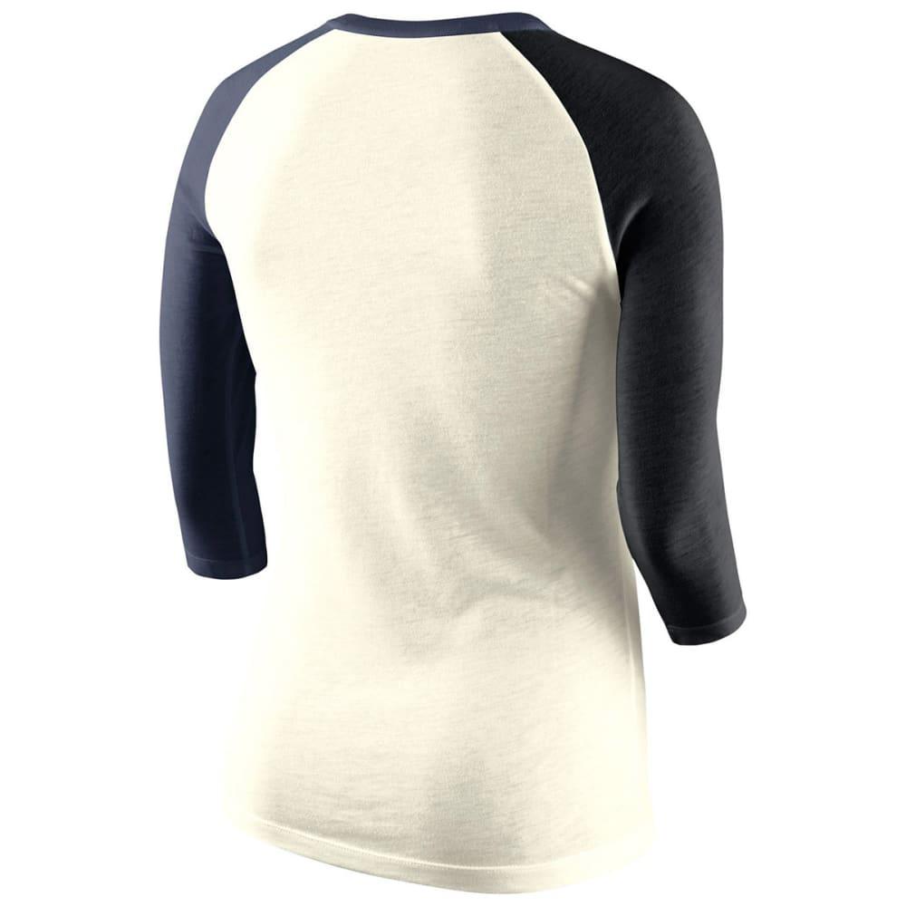 UCONN Women's Nike Tri-Blend 3/4 Sleeve Raglan Tee - CREAM
