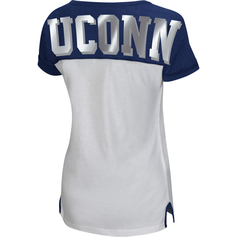 UCONN HUSKIES Women's Get Spirited Scoop Neck Tee - UCONN