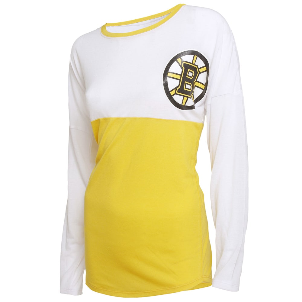 BOSTON BRUINS Women's Comeback Spirit Long-Sleeve Tee - EBONY/FUSHIA