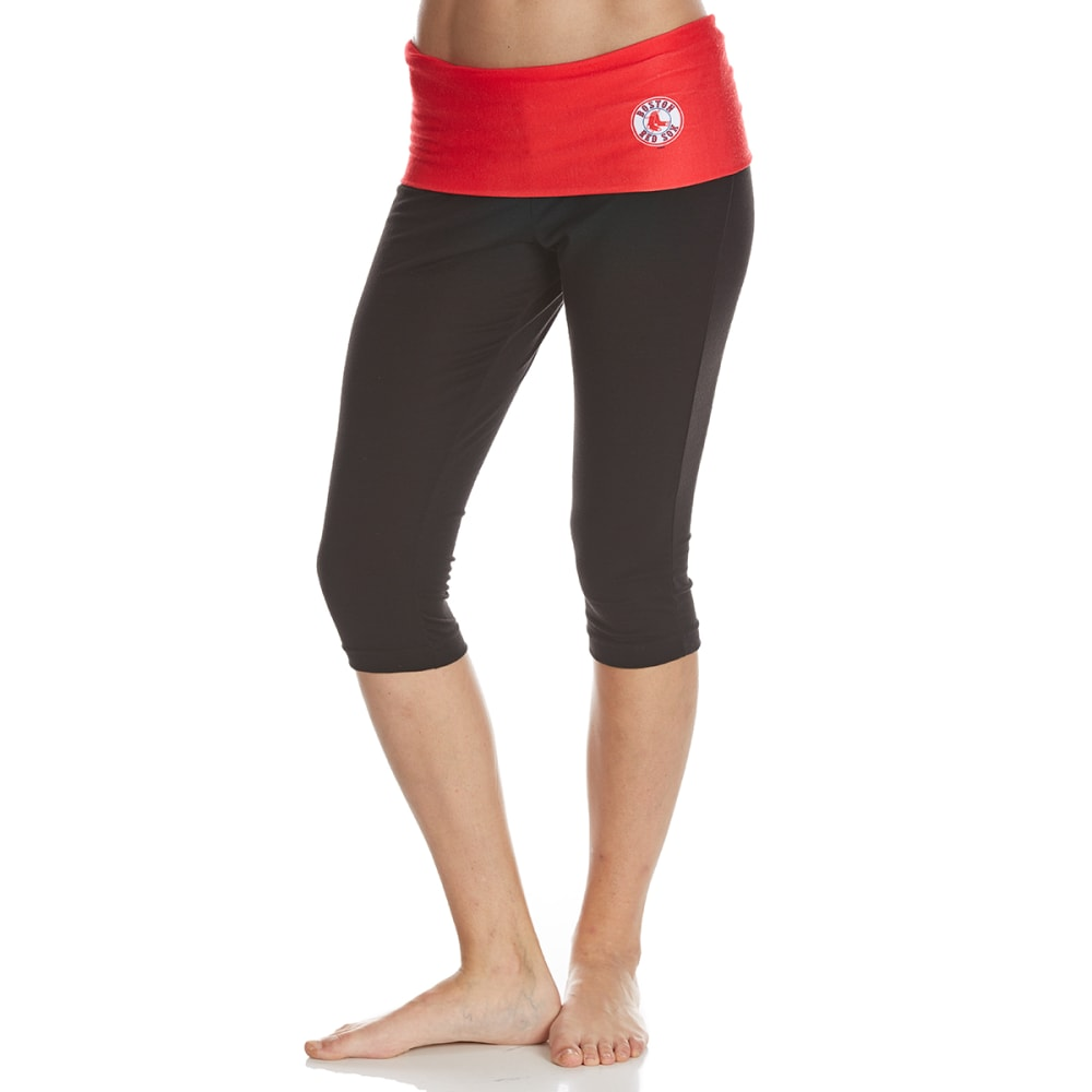 BOSTON RED SOX Women's Sublime Yoga Capri Pants - NAVY