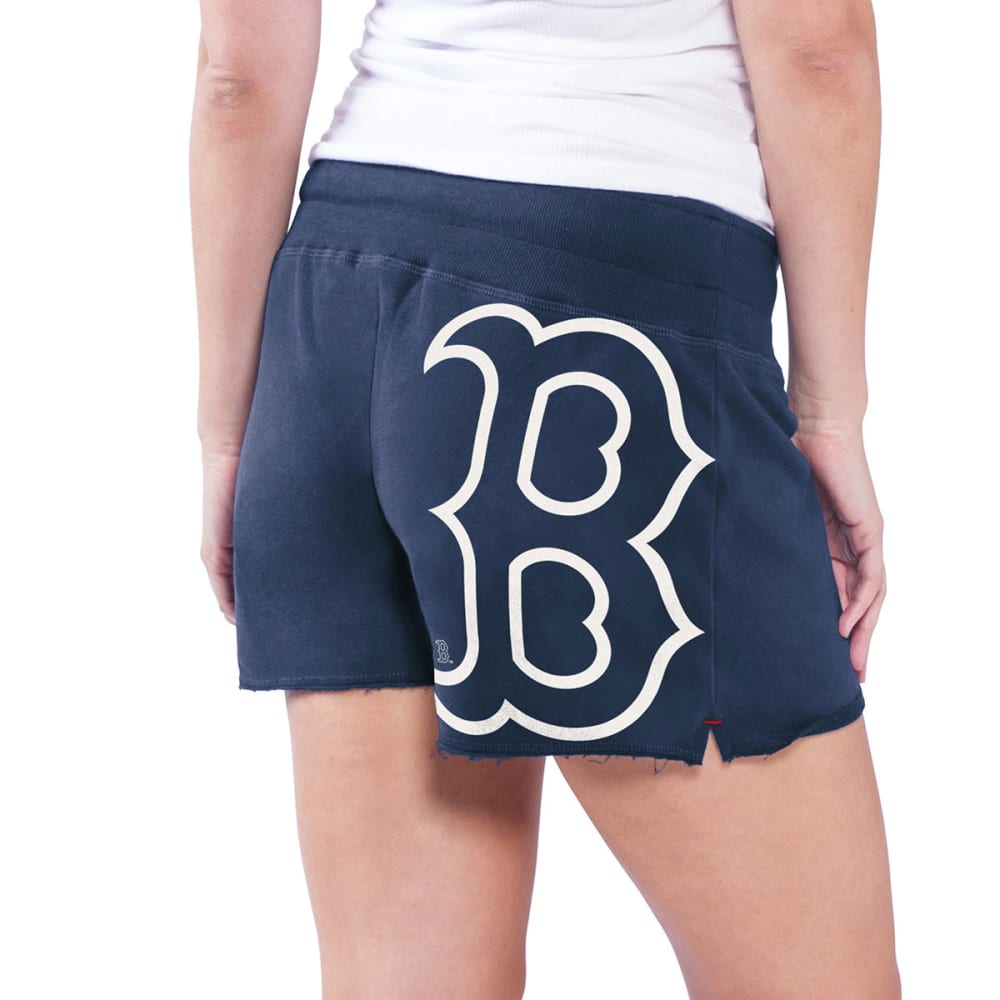 BOSTON RED SOX Women's Base Hit Shorts - NAVY