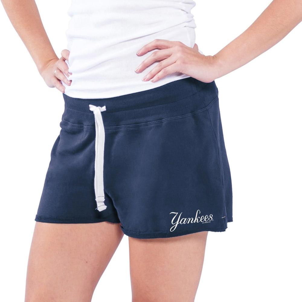 NEW YORK YANKEES Women's Base Hit Shorts - NAVY