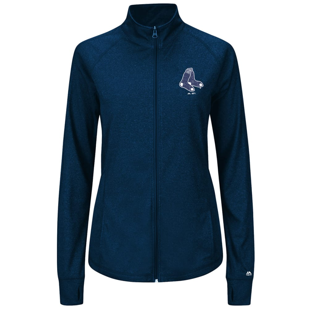 BOSTON RED SOX Women's Scoring Sweetheart Full Zip - HEATHER NAVY