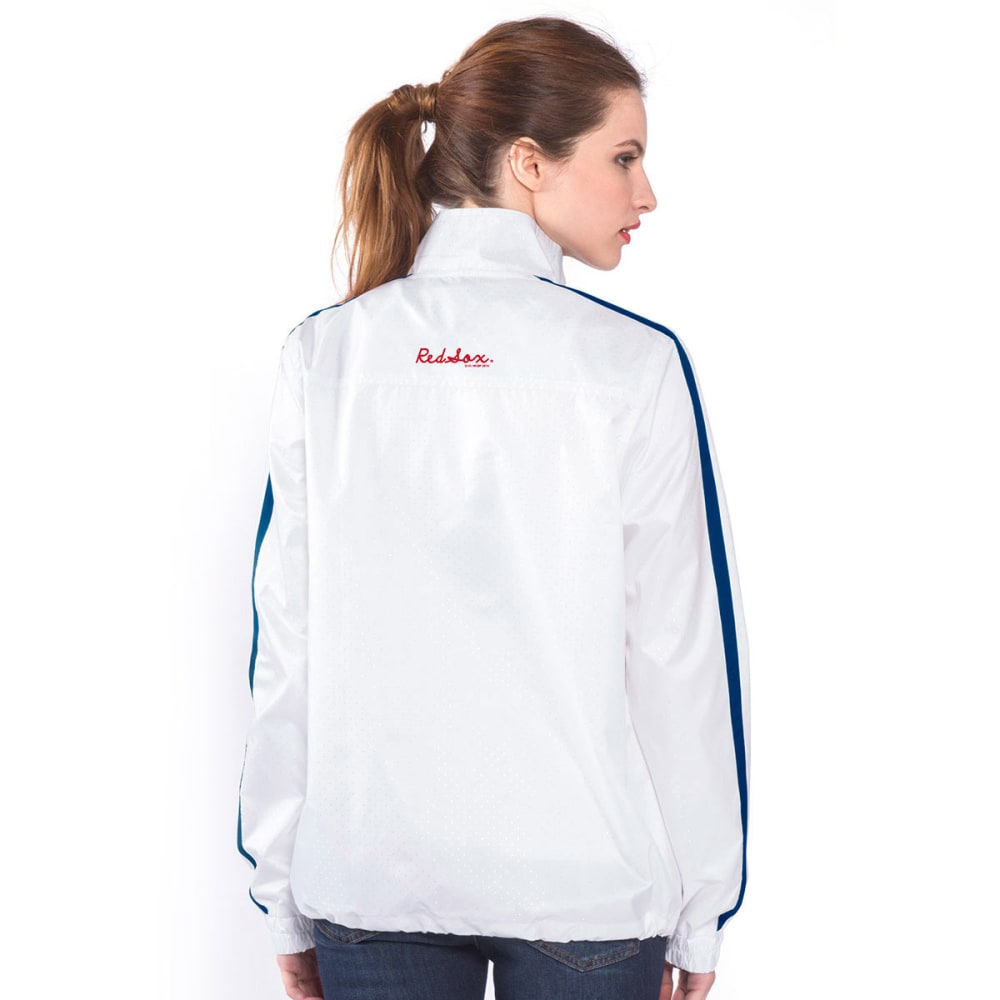 BOSTON RED SOX Women's Fan For Life Full-Zip Jacket - WHITE