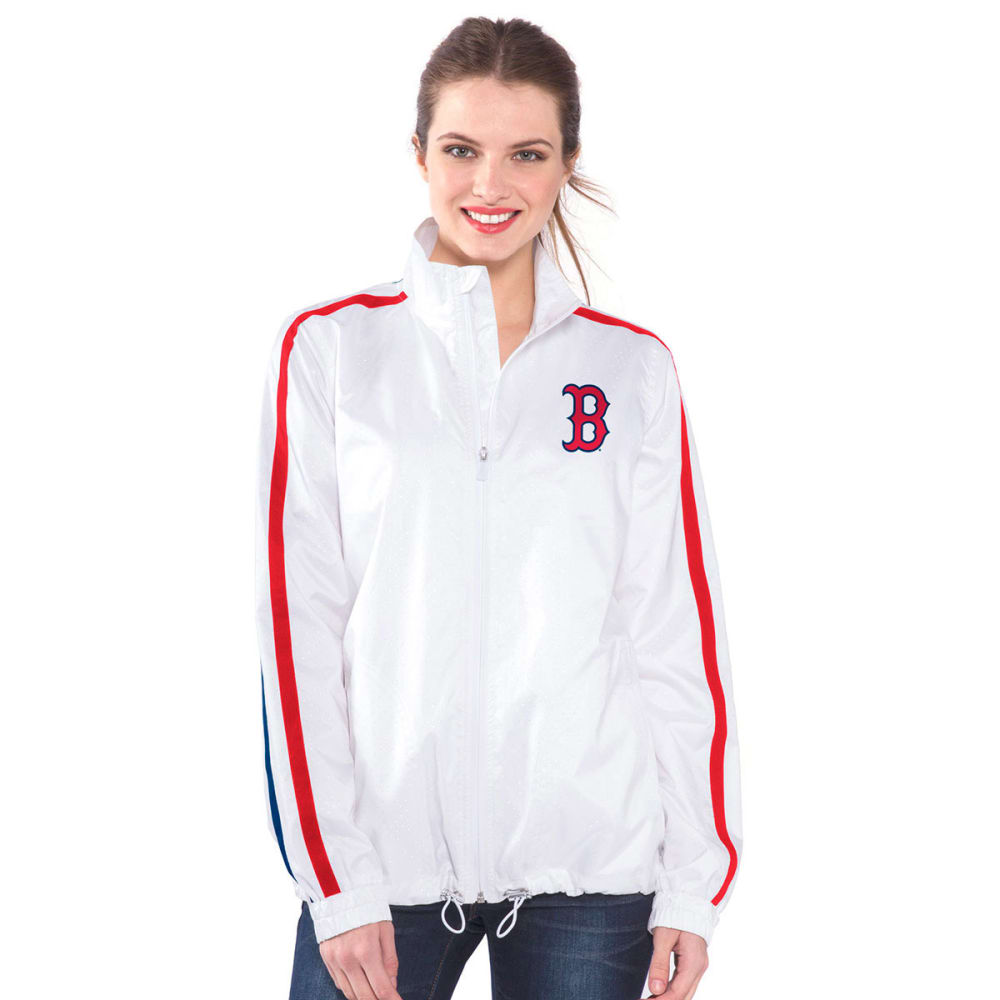 BOSTON RED SOX Women's Fan For Life Full-Zip Jacket - WHITE