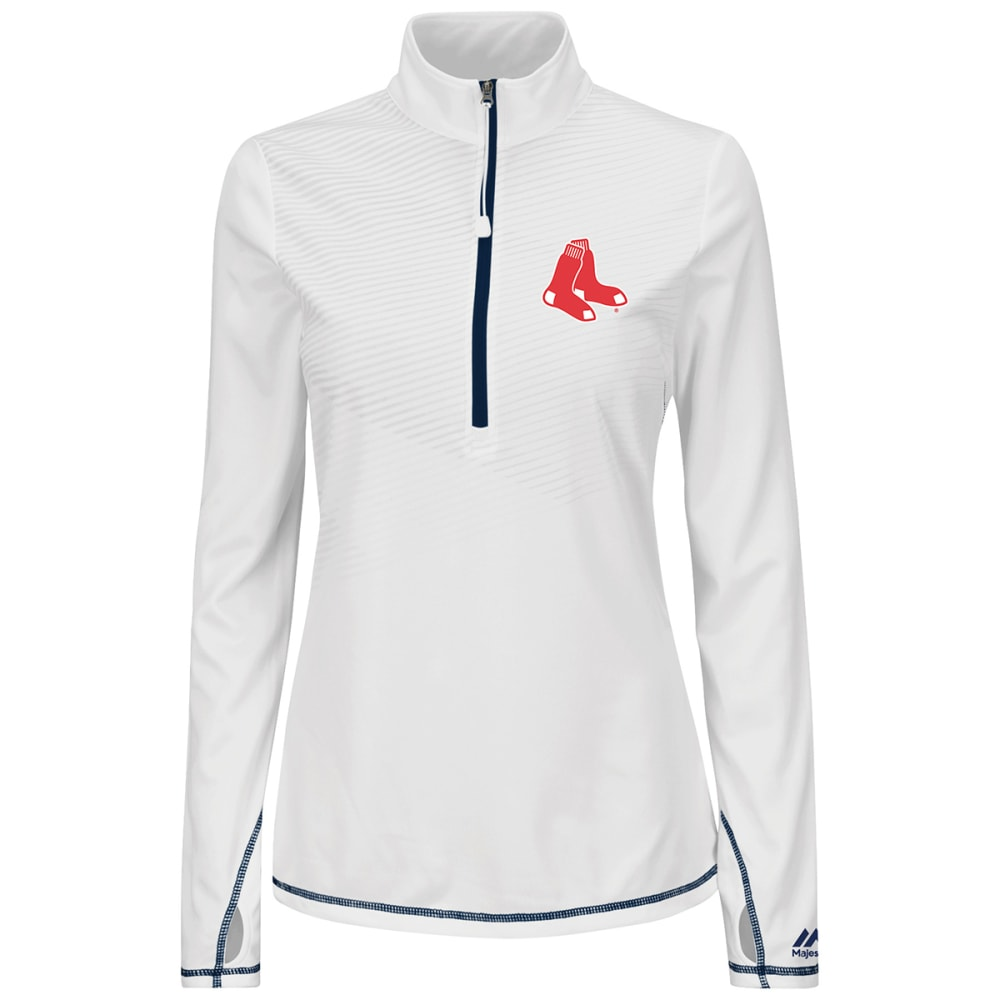 BOSTON RED SOX Women's Athletic Concept 1/2 Zip Jacket - NAVY