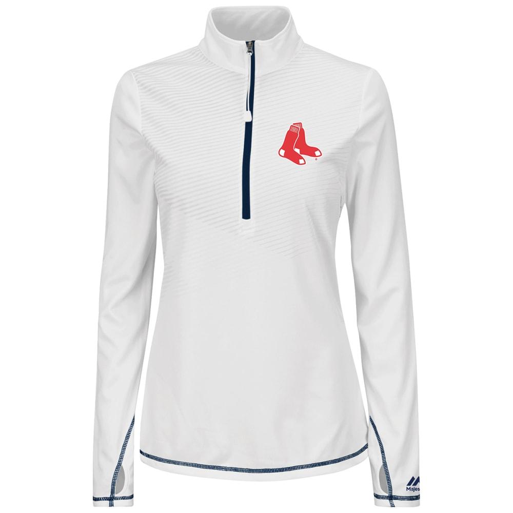 BOSTON RED SOX Women's Athletic Concept 1/2 Zip Jacket - NAVY
