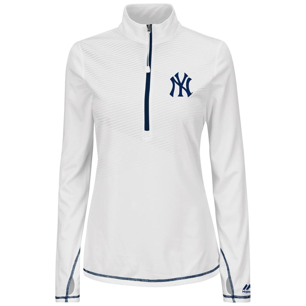 NEW YORK YANKEES Women's Athletic Concept 1/2 Zip Jacket - NAVY