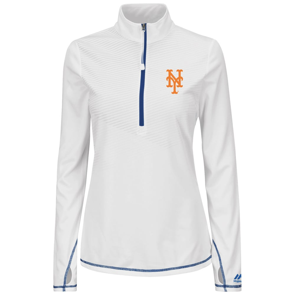 NEW YORK METS Women's Athletic Concept 1/2 Zip Jacket - ROYAL BLUE