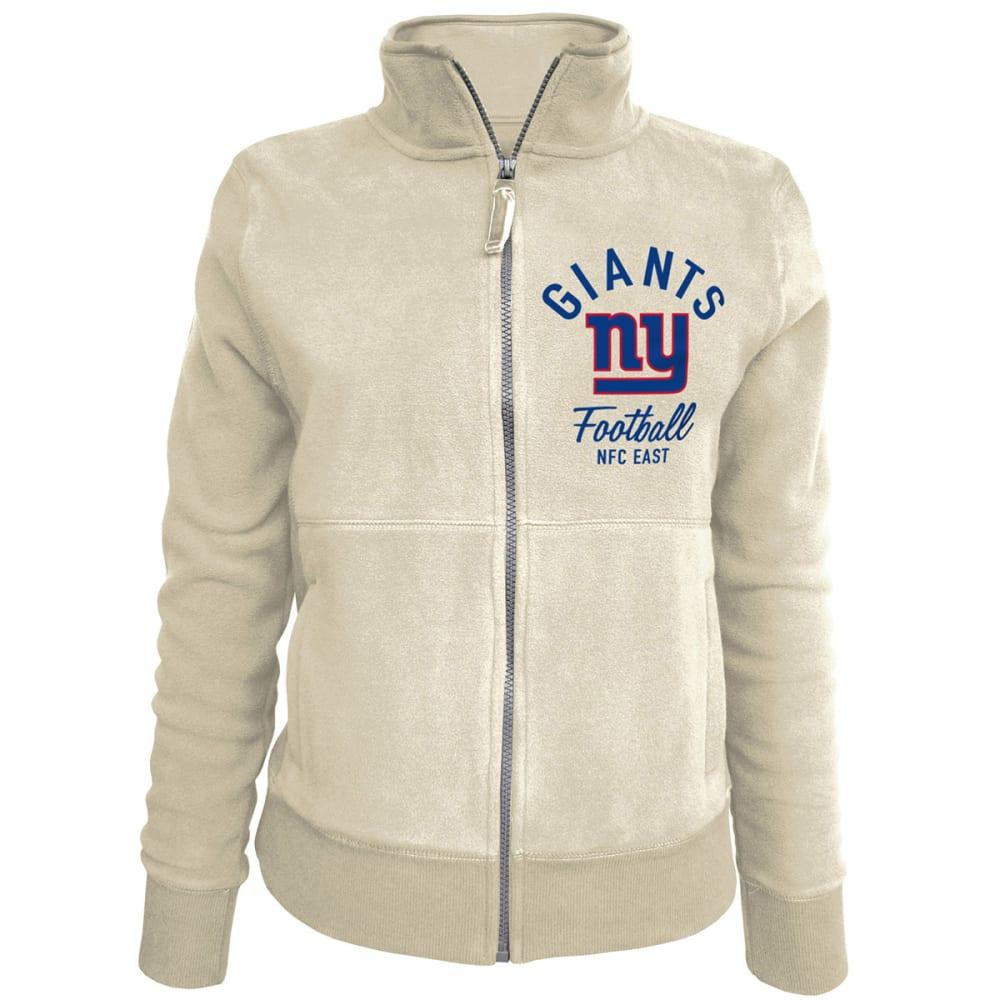 NEW YORK GIANTS Women's Full Zip Fleece Jacket - CREAM