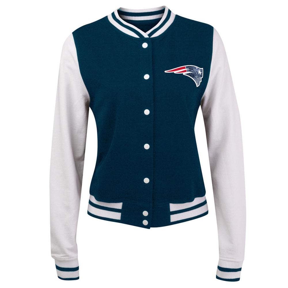 NEW ENGLAND PATRIOTS Women's Varsity Jacket - NAVY/WHITE
