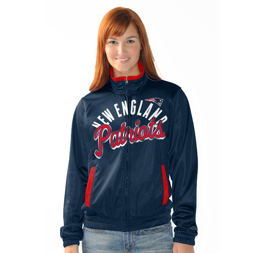 THE NEW ENGLAND PATRIOTS Women's Star Club Track Jacket - CRYSTAL
