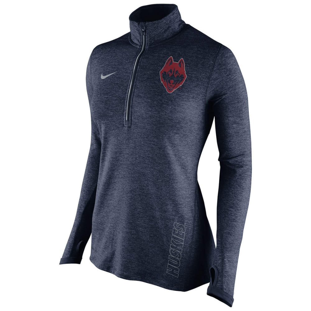 NIKE Women's UConn Element ¼ Zip Pullover - NAVY
