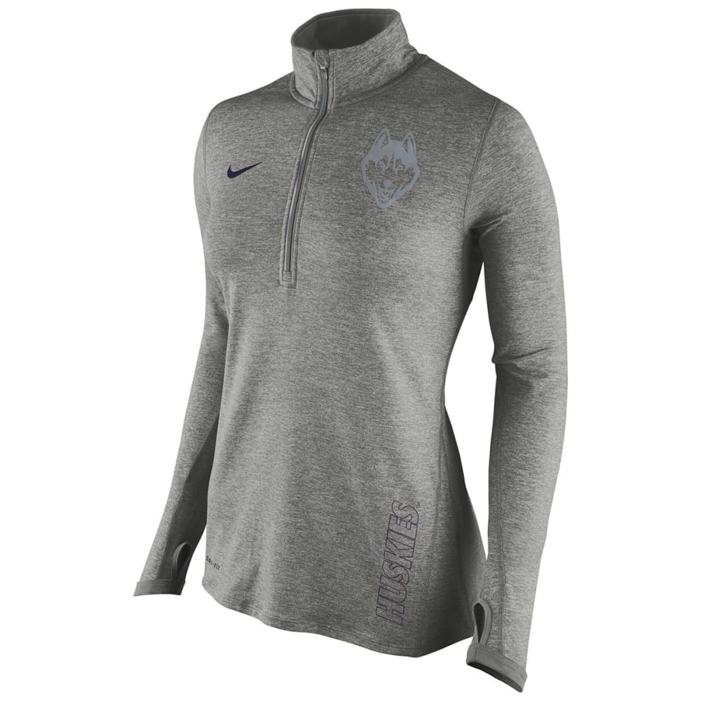 UCONN Women's Nike Element Quarter Zip Pullover - GREY