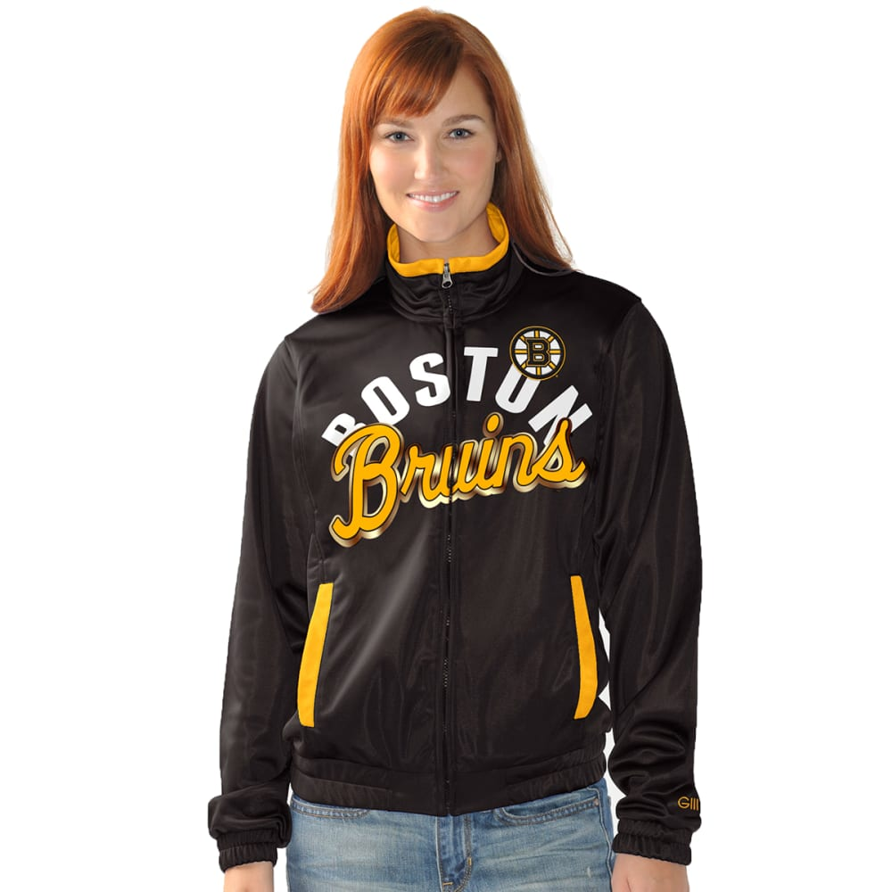 BOSTON BRUINS Women's Star Club Track Jacket - BLACK