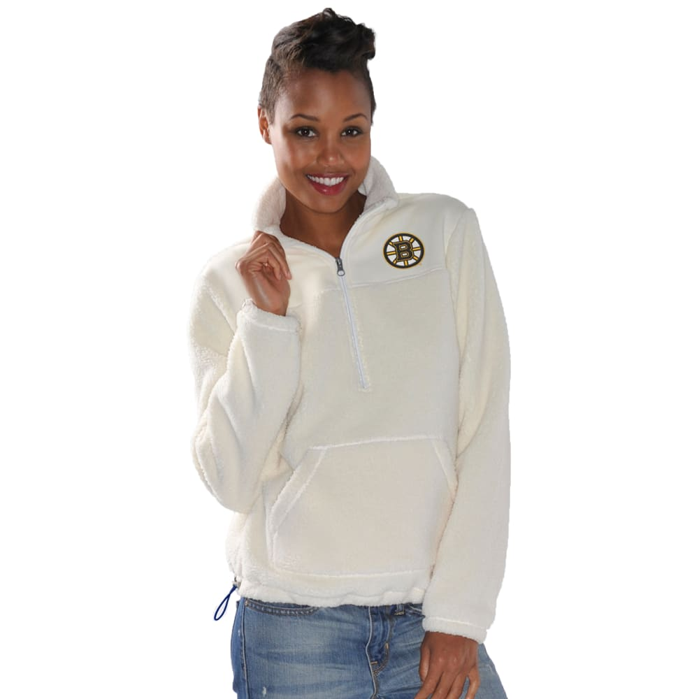 BOSTON BRUINS Women's Kick Off Half-Zip Jacket - CREAM