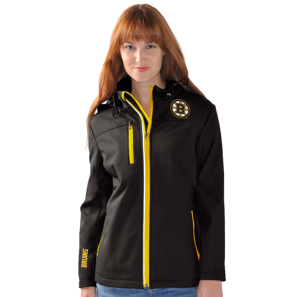 BOSTON BRUINS Women's Gridiron Full Zip Jacket - BLACK