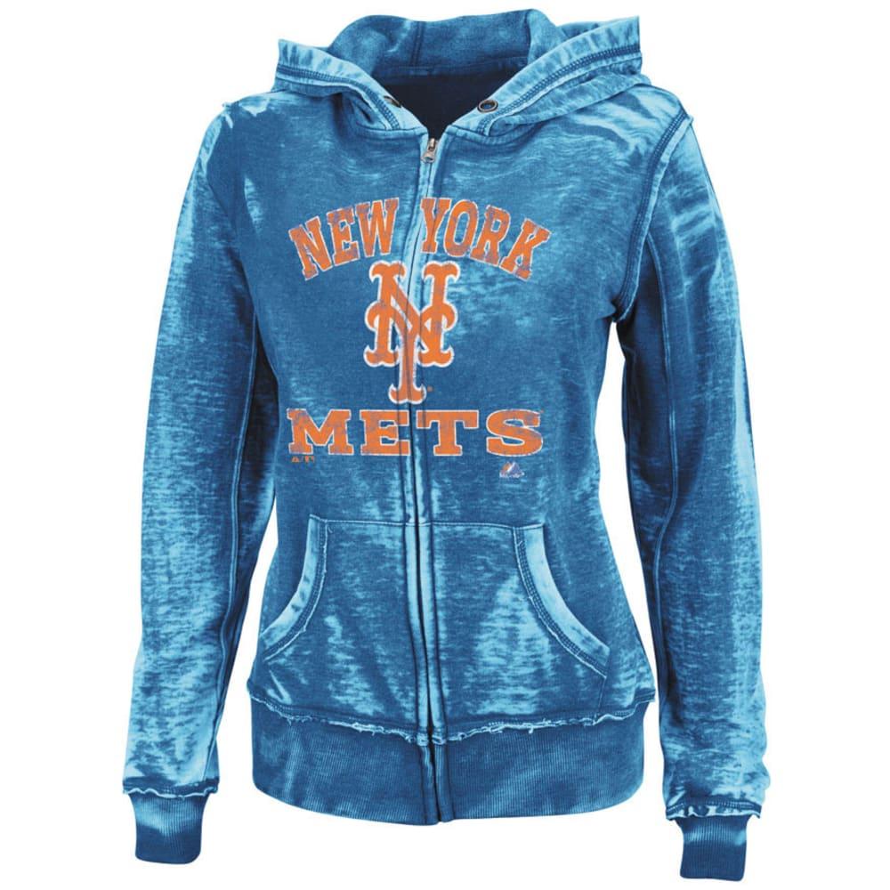 NEW YORK METS Women's Push the Limits Royal Full Zip Hooded Fleece - ROYAL BLUE