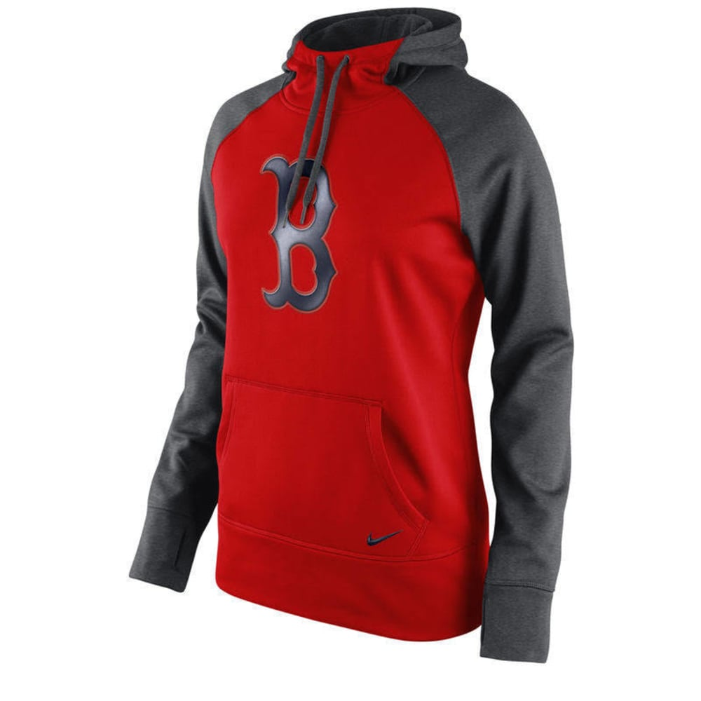 NIKE Women's Boston Red Sox Therma Pullover Hoodie - NAVY