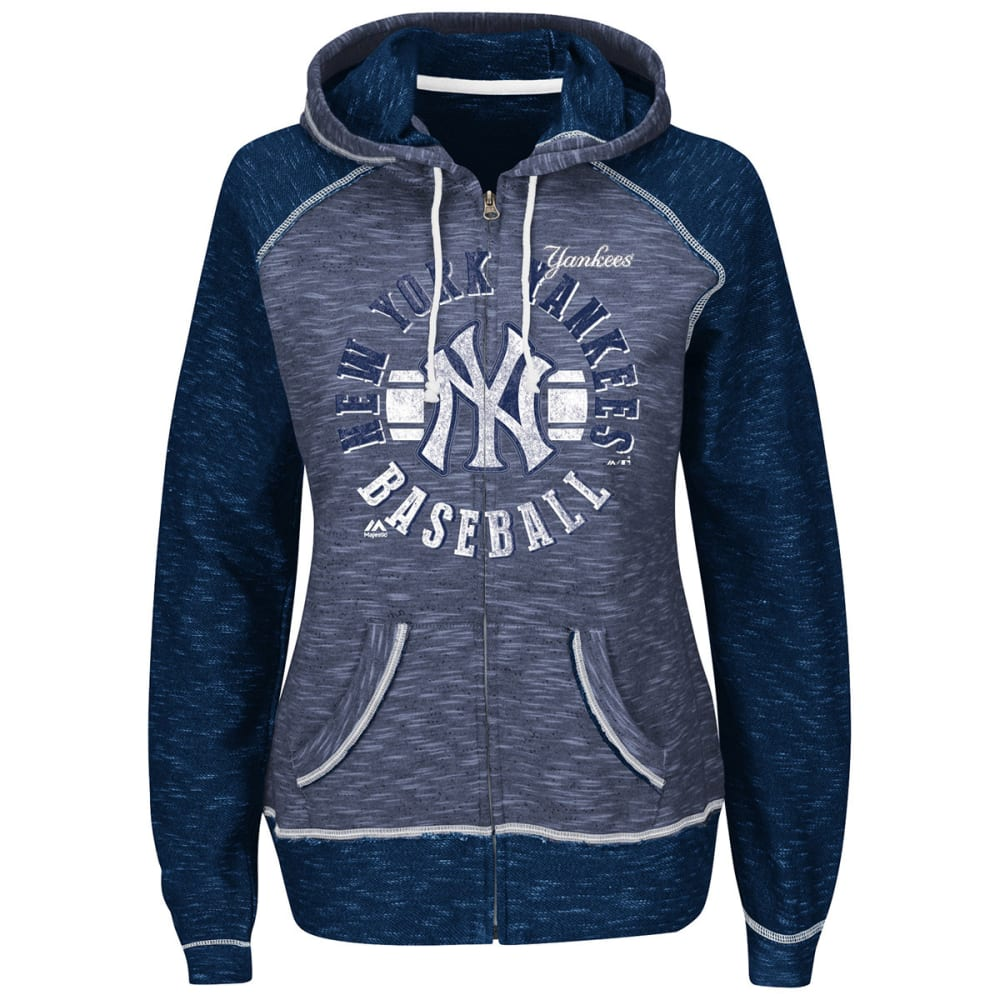 NEW YORK YANKEES Women's Flash Pitch Full Zip - NAVY