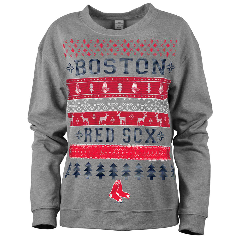 BOSTON RED SOX Women's Holiday Sweatshirt - RED SOX