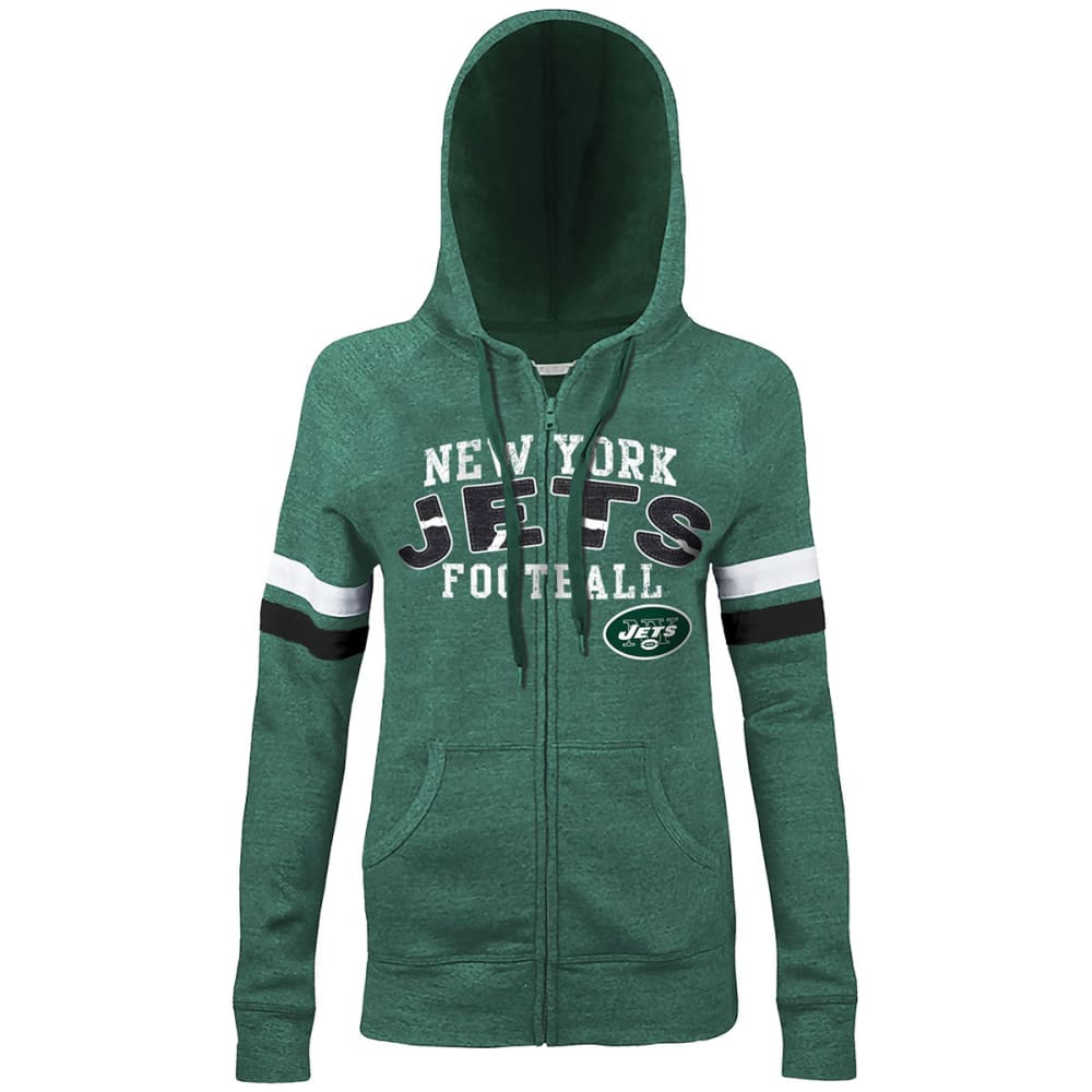 NEW YORK JETS Women's Full Zip Hoody - HTHR GRY