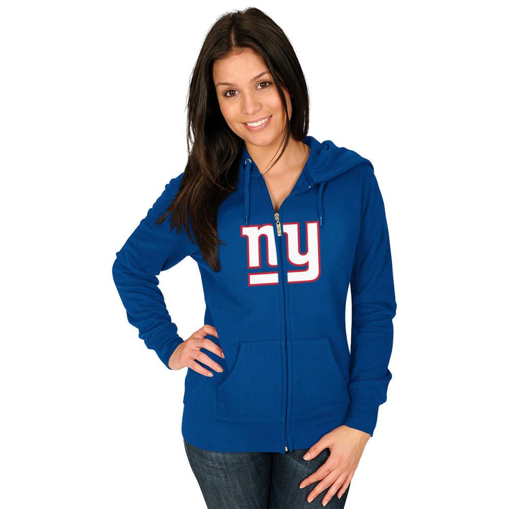 NEW YORK GIANTS Women's Win Big Full-Zip Fleece Hoodie - BLUE
