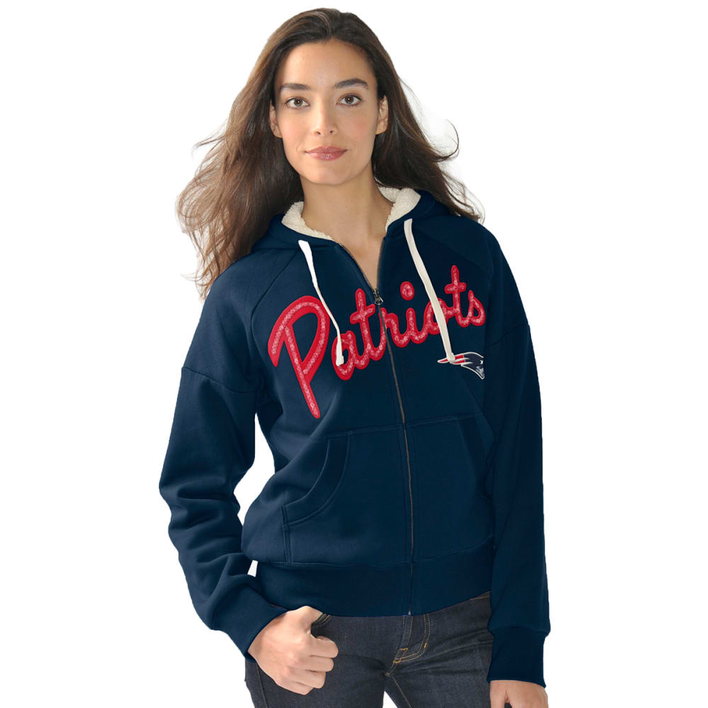 NEW ENGLAND PATRIOTS Women's Rebel Full Zip Jacket - NAVY