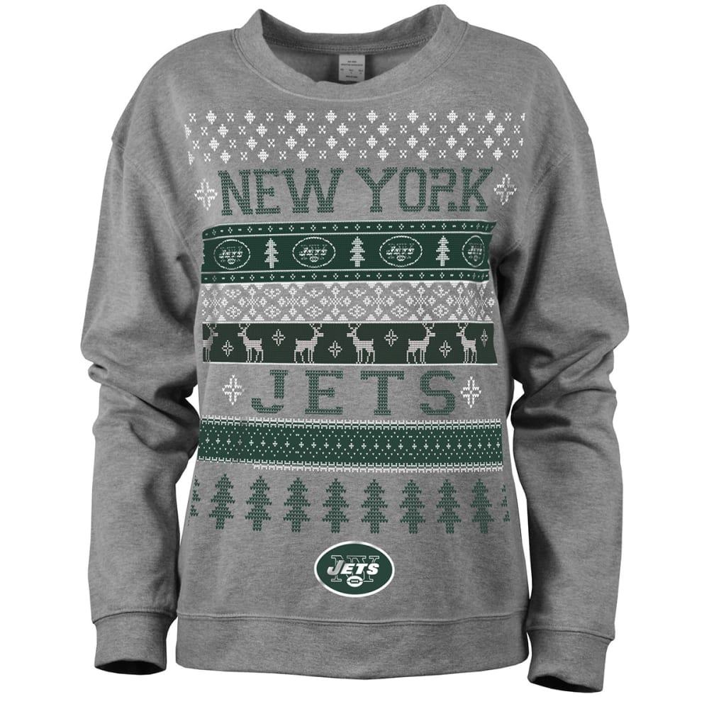 NEW YORK JETS Women's Holiday Sweatshirt - JETS