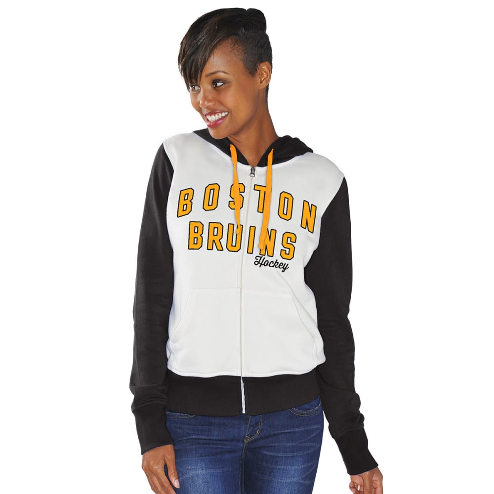 BOSTON BRUINS Women's Option Full-Zip Hoody - CREAM/BLACK