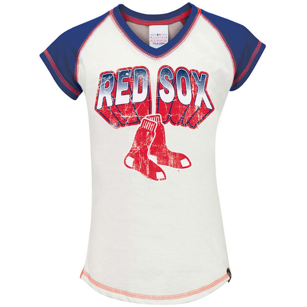 BOSTON RED SOX Girls' Raglan - WHITE