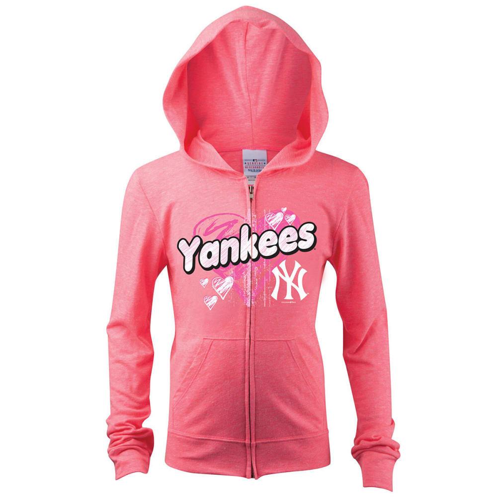 NEW YORK YANKEES Girls' Full-Zip Fleece - PINK