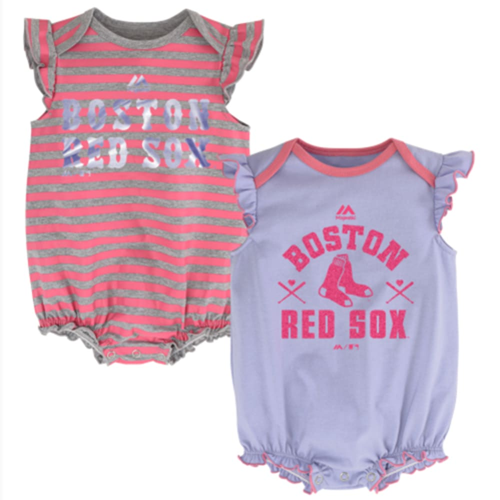 BOSTON RED SOX Girls' Team Sparkle 2 Piece Creeper Set - RED SOX