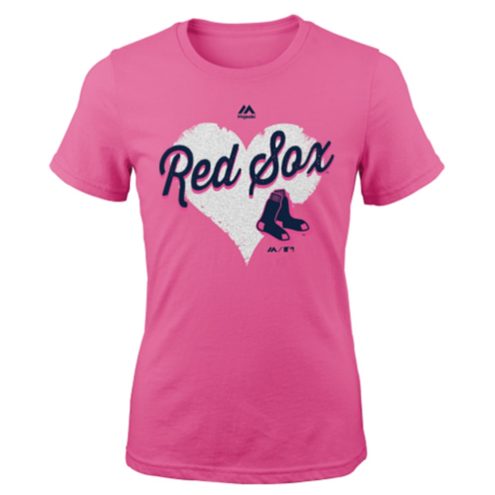 BOSTON RED SOX Girls' Heart Felt Tee - RED SOX