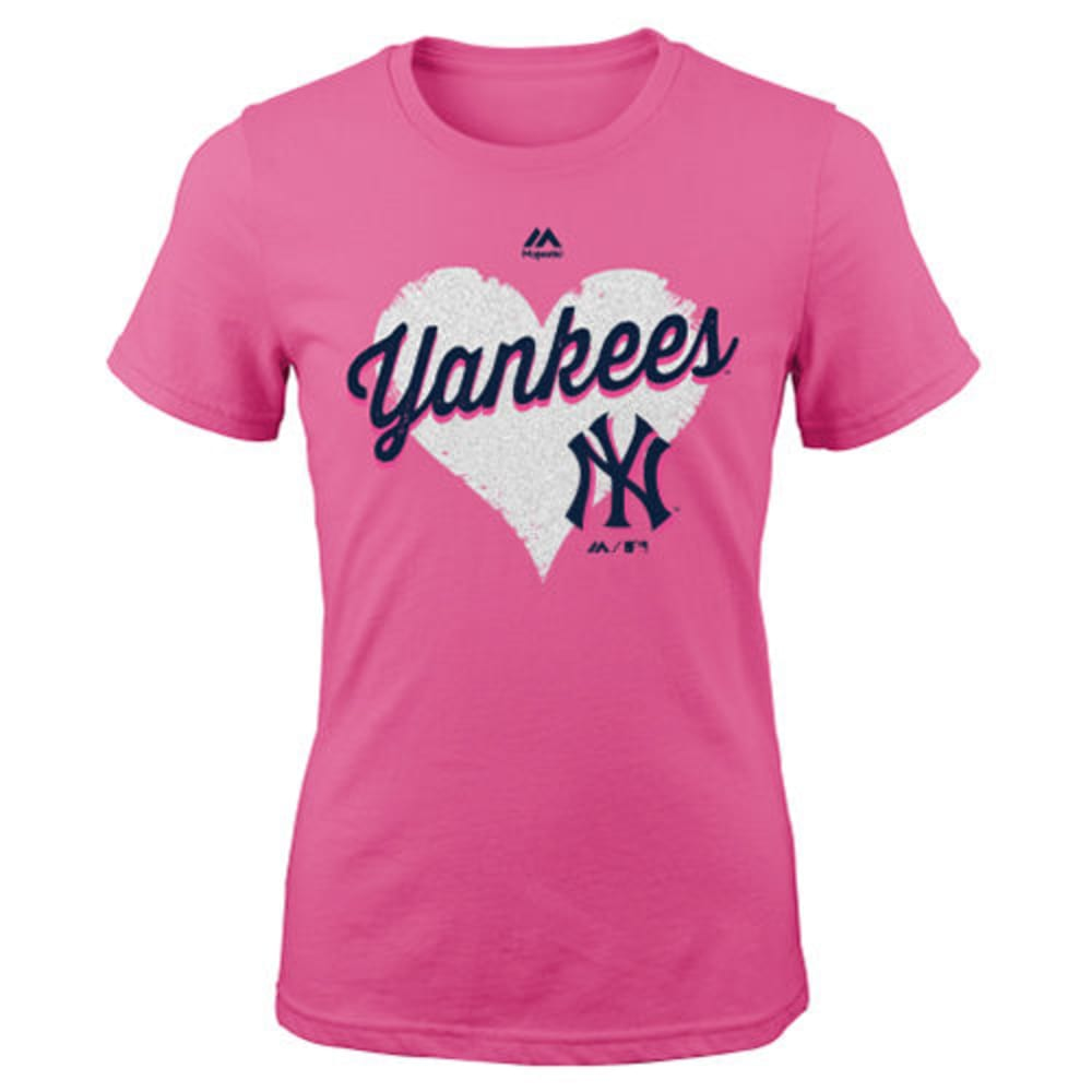 NEW YORK YANKEES Girls' Heart Felt Tee - YANKEES
