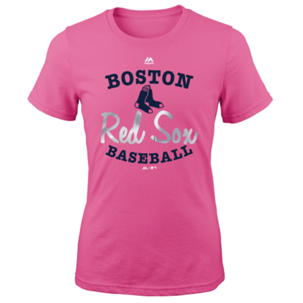BOSTON RED SOX Girls' Overlap Short Sleeve Tee - RED SOX
