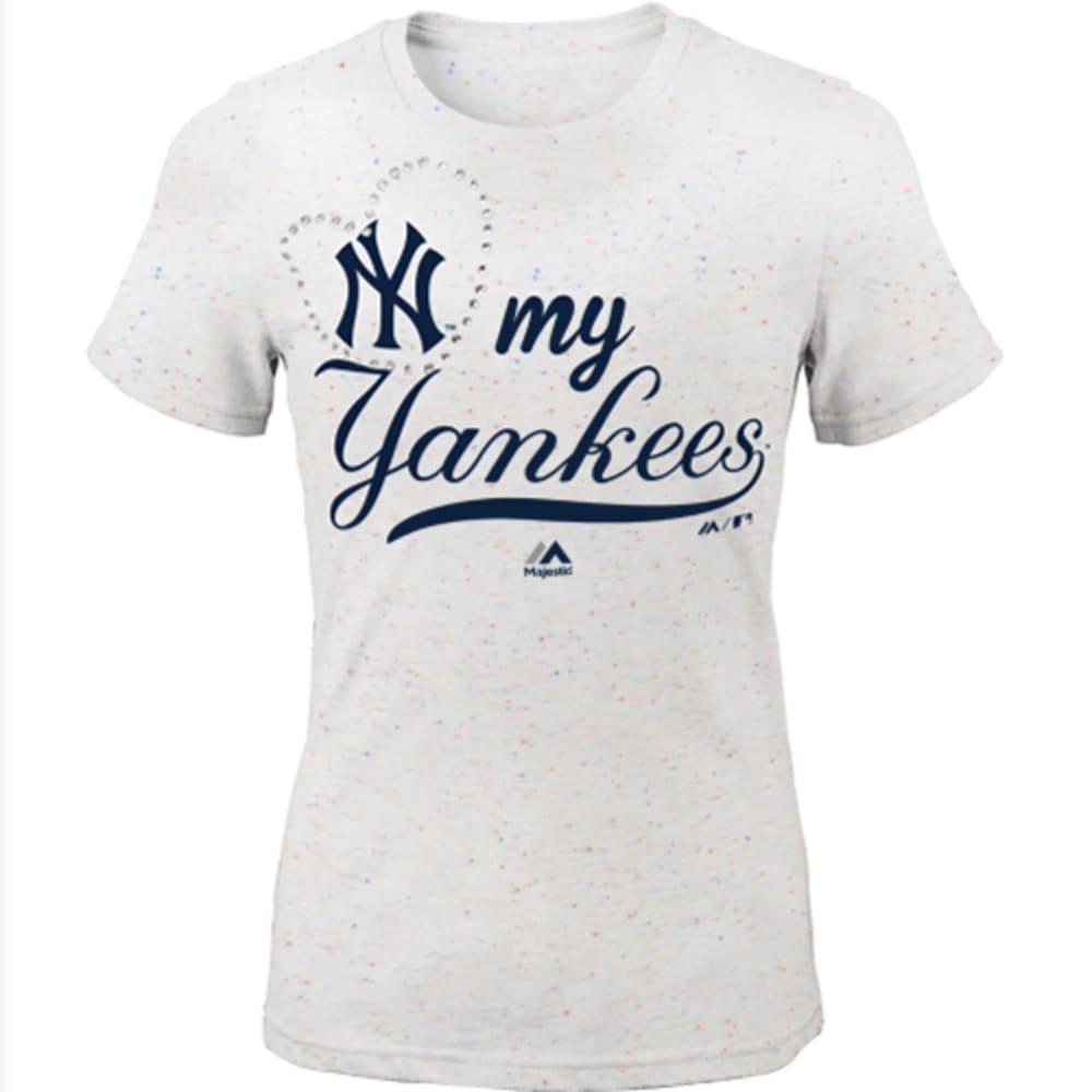 NEW YORK YANKEES Girls' Confetti My Heart Short Sleeve Tee - YANKEES