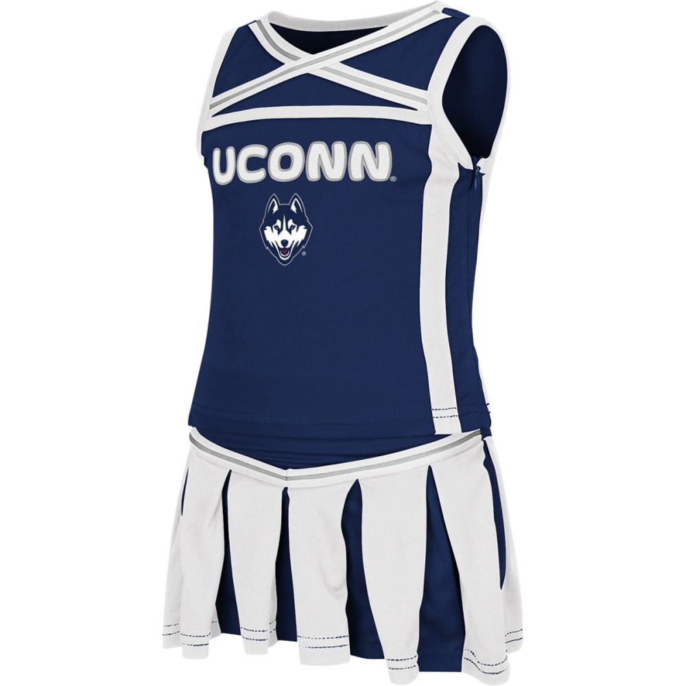 UCONN HUSKIES Toddler Girls' Cheerleader Set - BLACK/TAUPE