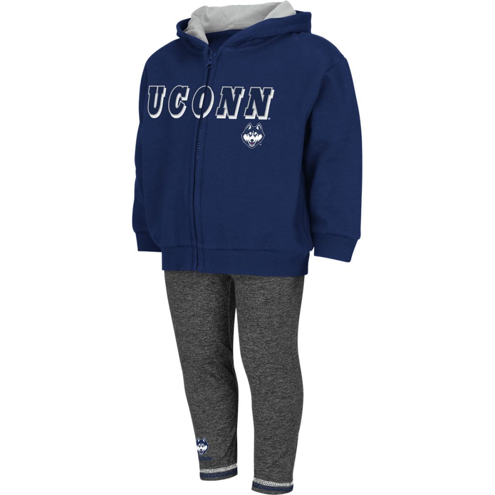 UCONN HUSKIES Girls' Hurdler Set - BLACK/TAUPE